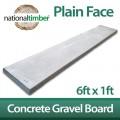 6ft x 1ft Plain Smooth Concrete Gravel Boards