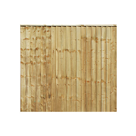 Featheredge Closeboard Fence Panel 6ft x 2ft