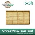Overlap Waney Fence Panel 6ft x 3ft