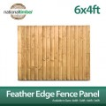 6ft x 4ft Featheredge Closeboard Fence Panels (Pack of 5)