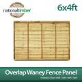 6ft x 4ft Overlap Waney Fence Panel