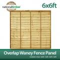 Overlap waney fence panel 6ft x 6ft