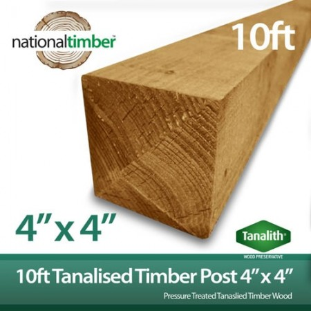"""Tanalised Timber Post 10ft x 4"""" x 4"""""""