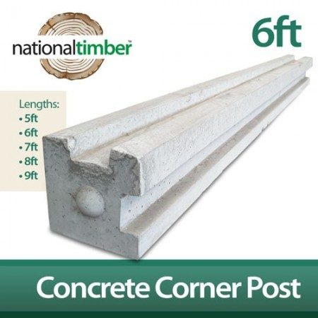 Concrete Reinforced Corner Posts 6ft