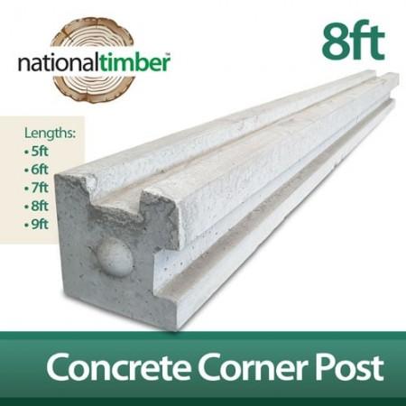 Concrete Reinforced Corner Posts 8ft