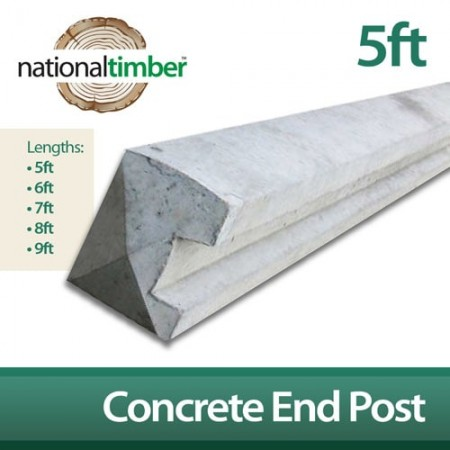 Concrete Reinforced End Posts 5ft