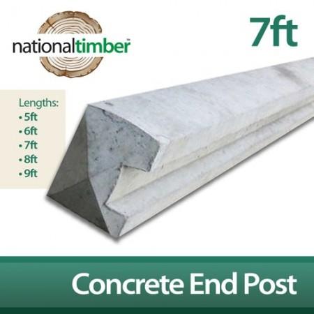 Concrete Reinforced End Posts 7ft