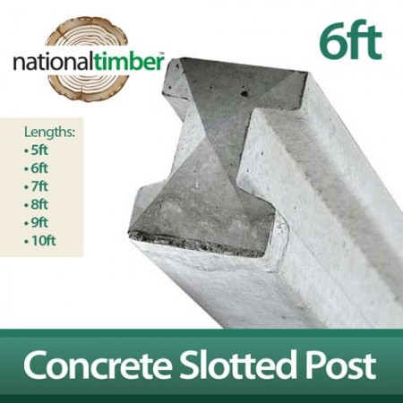 Concrete Reinforced Slotted Posts 6ft