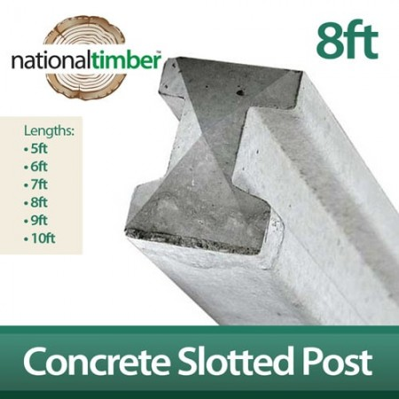 Concrete Reinforced Slotted Posts 8ft