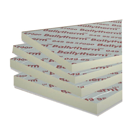 Ballytherm Foil Board Insulation 2.4m x 1.2m x 120mm Sheets