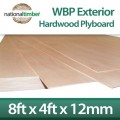 WBP BB/BB Exterior Red Faced Plywood Ply Board 12mm x 8ft x 4ft