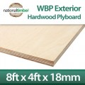 WBP BB/BB Exterior Red Faced Plywood 18mm x 8ft x 4ft
