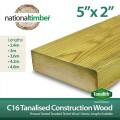 C16 Treated Tanalised Timber, Structural Studwork 5x2 at 3m