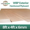 WBP BB/BB Exterior Red Faced Plywood Ply Board 6mm x 2440mm x 1220mm