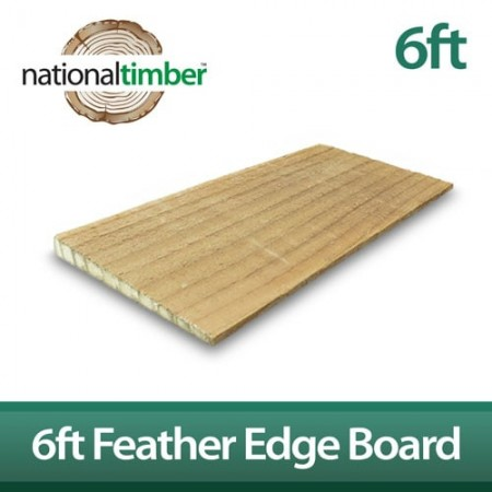 Untreated Featheredge Boards 8ft