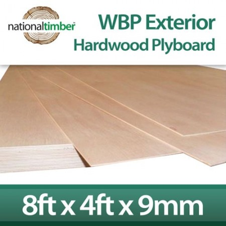 WBP BB/BB Exterior Red Faced Plywood Ply Board 9mm x 8ft x 4ft