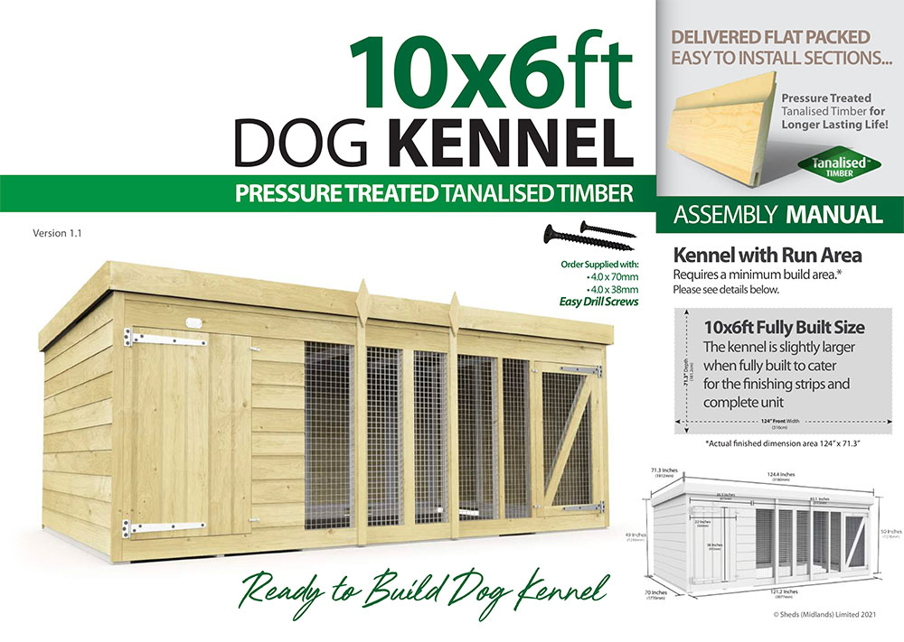 10ft x 6ft Dog Kennel assembly guide