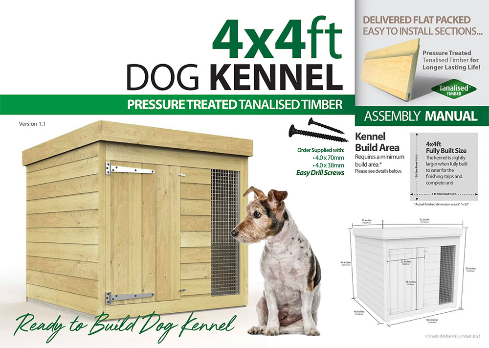 4ft x 4ft Dog Kennel assembly guide