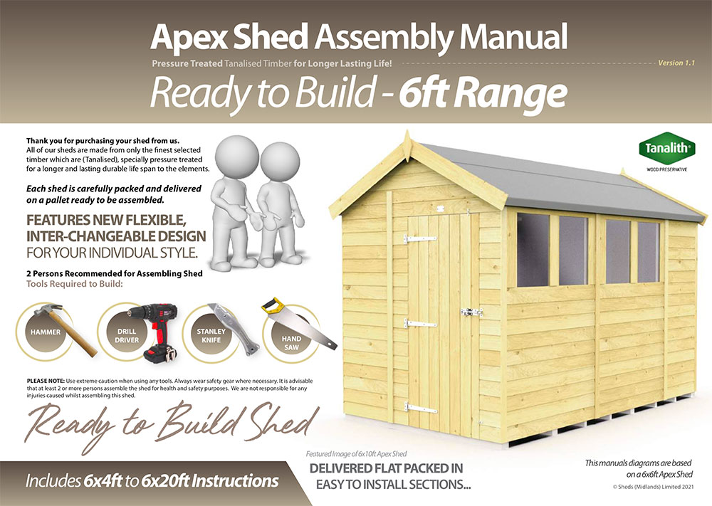 6ft Apex Shed Installation Guide