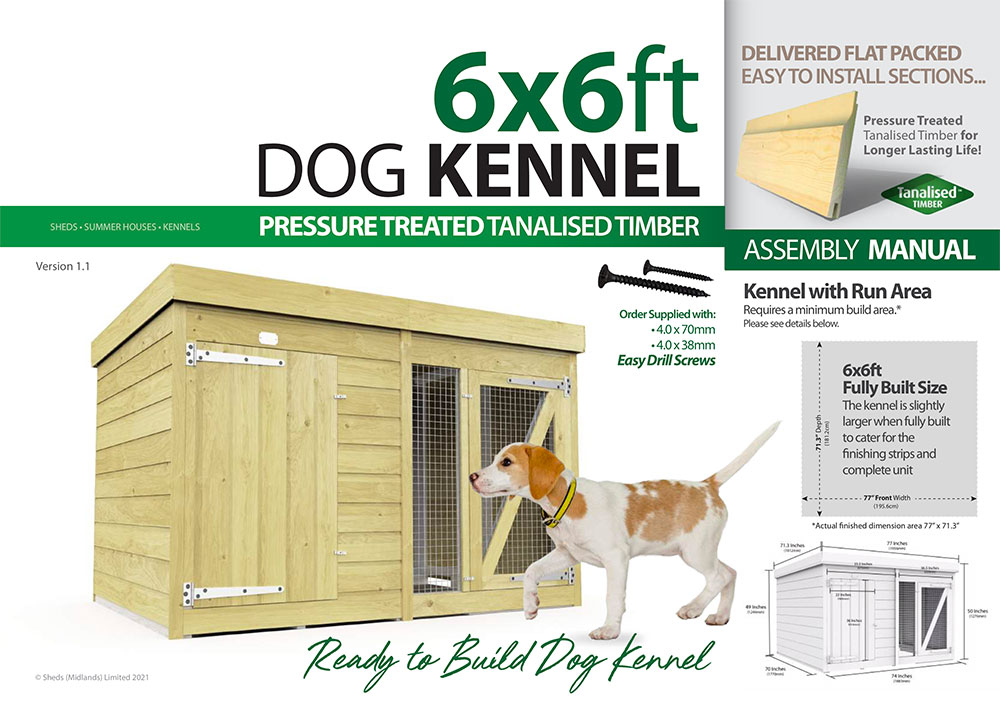 6ft x 6ft Dog Kennel assembly guide