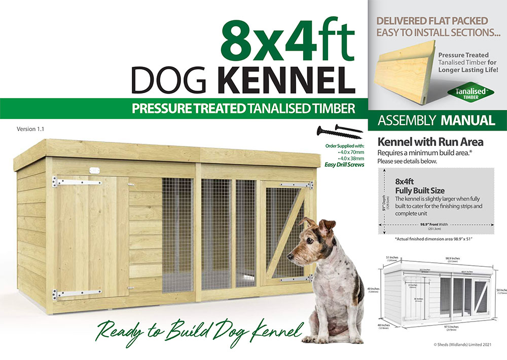 8ft x 4ft Dog Kennel assembly guide